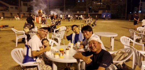 郁文学区の夏祭り