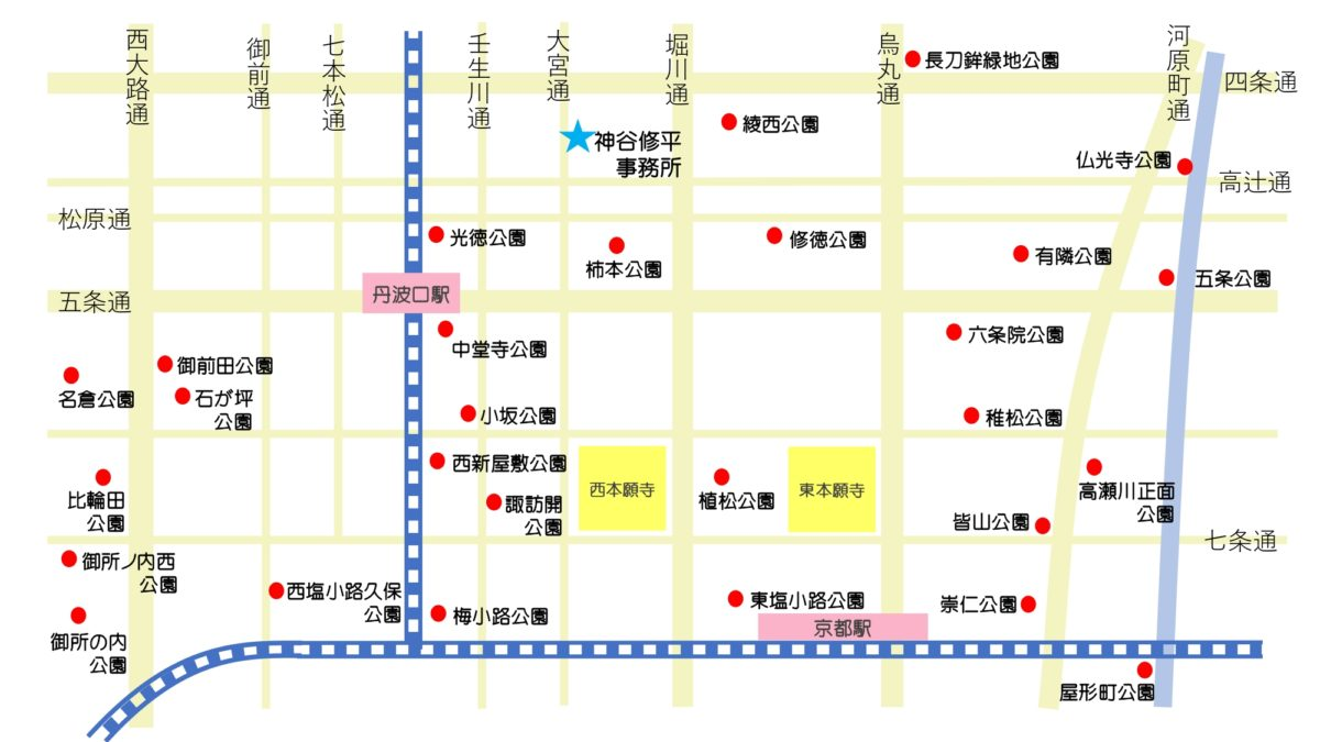 京都下京区公園マップ